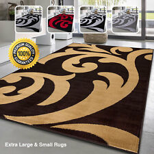 Anti-Slip Large Floral Area Mats Bedroom Living Room Big Small Carpets Rugs