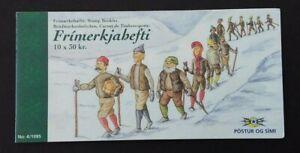 Iceland 1995 H29 30kr Christmas Booklet (Snowmen)