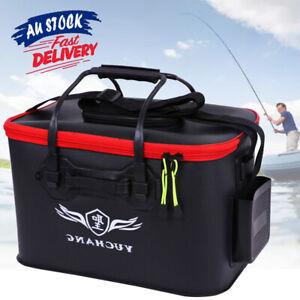 Live Bait Storage Medium large Fishing Boxes Fish Box Folding EVC Bucket ACB#