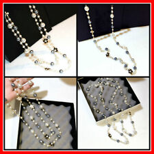 Long Pearl Necklace Women Simulated Double Layer Pendant Fashion Jewelry Chain