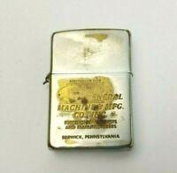 Vintage 1950's Zippo Lighter Advertising General Machine & MFG Berwick PA USA