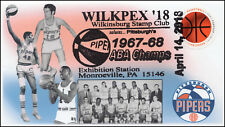 18-084, 2018, Wilkpex, Pictorial Postmark, Pittsburgh Pipers, Event Cover, ABA