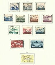 Switzerland 1940s Airmail selection