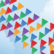 10Meter Banner Bunting Pennant Flags Party Birthday Wedding Rainbow Decor Flag