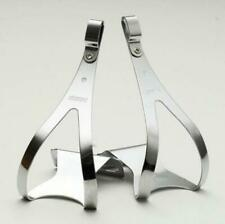 MKS Steel Toe-Clips Silver, Pair, Size: S