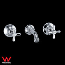 Bathroom Kitchen Eleb Bath Spa Sink Tap Set Brass Chrome Full Turn WaterMark