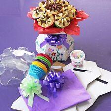 Cupcake Bouquet Box - Doodle Box Kit - Kids Decorating Cakes, White Bouquet Box