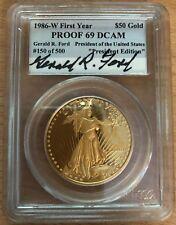 Rare 1986 $50 American Eagle Gold Coin PCGS President Edition