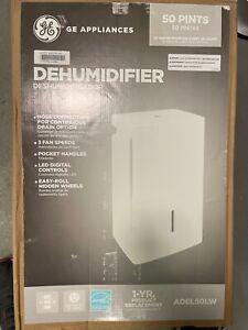 ADEL50LW GE ENERGY STAR 50-Pint Portable Dehumidifier White