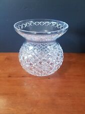 "WATERFORD CRYSTAL CORSET BOUQUET VASE CENTERPIECE 9"" ADARE ALANA EXCELLENT COND."
