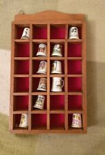 Thimble Collection + Display Box Case (Royal Signals Cadbury World York Minster)