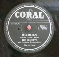 The Crickets / Buddy Holly / Maybe Baby & Tell Me How (117-1113)