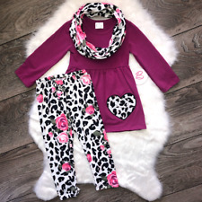 Girl Boutique Magenta Heart Scarf Set Children's Clothing