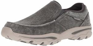 Skechers Men's Relaxed Fit-Creston-Moseco Moccasin, Charcoal, Size 12.0 SO1X