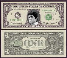 USA - VERITABLE Billet de 1 DOLLAR - BRUCE LEE - JEET KUNE DO - TYPE 1 - NEUF -