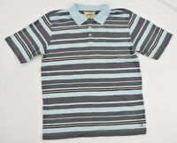 Gramicci Mens Light Blue Stripe Judson Classic Comfort Polo Shirt SZ M
