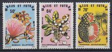 Wallis et Futuna 1979 ** Mi.339/41 Flora Blumen Flowers Baum Tree Fruit [sq5264]