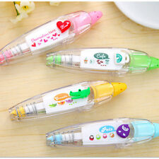 4pcs Stationery Push Correction Tape Lace for Key Tags Sign #A School Supplies