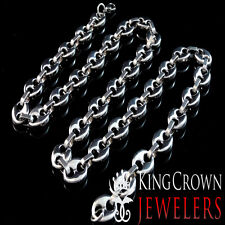 NEW MEN'S STAINLESS STEEL TARNISH FREE MARINER LINK CHAIN NECKLACE 30 INCH THICK
