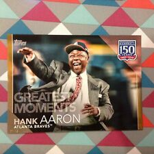 #35 Hank Aaron Braves HOF 5x7 (#/10 made) Gold 2019 Topps 150 Years of Greatest