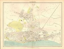1898 ANTIQUE MAP - TOWN PLAN, EASTBOURNE