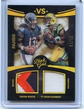 2015 BLACK GOLD KEVIN WHITE ( BEARS ) VS. TY MONTGOMERY ( PACKERS ) #8/49 NM/MT