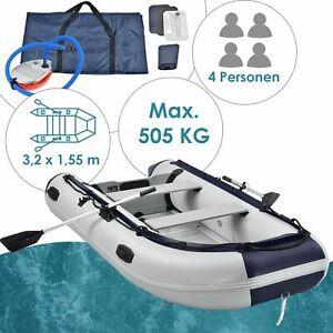 Schlauchboot Paddelboot grau Aluboden zwei Sitzbänke - 3,20m - B-Ware