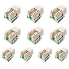 10 Pcs Ethernet Network Module Cat5 RJ45 Punch Down Keystone Jack Connector Plug