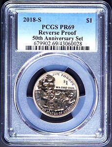 2018 S SACAGAWEA JIM THORPE $1 PCGS REVERSE PR69 50th Anniversary Silver Set