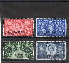 Bahrain QE2 1953 Coronation set sg 90-93 LH.Mint