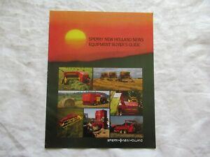 1984 Sperry New Holland News Equipment Buyers Guide brochure