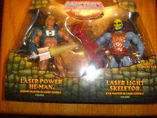 LASER POWER HE-MAN and LASER LIGHT SKELETOR - MIB - MOTUC - Sealed w/ Mailer!
