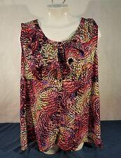 lane bryant womans size 18 blouse plus size  casual wear multi color