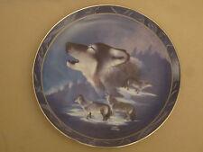 Wolf collector plate Blue Brotherhood Eddie LePage Wolves wildlife