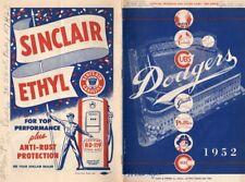 1952 Brooklyn Dodgers Program Signed Warren Spahn/ Jackie Robinson 3 Hits/ Campa