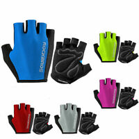 RockBros Cycling Pad Half Short Finger Outdoor Sporting Breathable Gloves