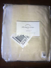 New~Pottery Barn Dupioni Silk Pole Pocket Drape~Double Wide 104x96 Sahara