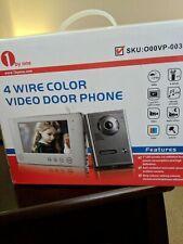 1byone Video Doorphone 4-Wires Video Door Phone System 7-inch Color Monitor