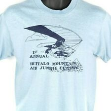Buffalo Mountain Hang Gliding T Shirt Vintage 80s Air Junkie Made In USA Large