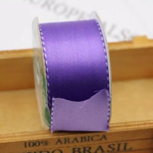 8x3.6M Of 38mm Double Faced Purple Satin Ribbon With Stitches 😉🥰 Easter Sales!