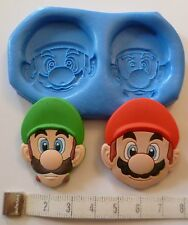 SUPER MARIO & LUIGI SILICONE MOULD FOR CAKE TOPPERS, CHOCOLATE, CLAY ETC