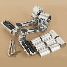 TC Chrome Front Footpegs Footrest For Honda GL1800 GOLDWING 22mm 30mm 35mm