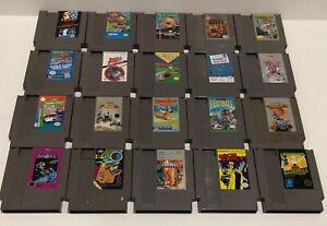 Nintendo NES Lot of 29 Games  Simpsons, Tetris, Dick Tracy, Mario / Duck Hunt