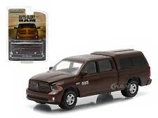 2014 DODGE RAM 1500 WORK PICKUP TRUCK MET BROWN W/ CAMPER 1/64 GREENLIGHT 29809