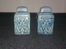 Vintage Small Blue Salt and Pepper Shakers