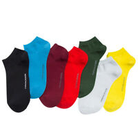 NEW Mens Combed Cotton Ankle Socks Solid Color Business Casual Dress Crew Socks