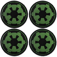 4x Star War Imperial Symbol PVC Morale Patch 3D Badge Hook #42 Glow Airsoft
