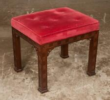 Chinese Chippendale style mahogany stool with pierced corner blocks, o... Lot 10