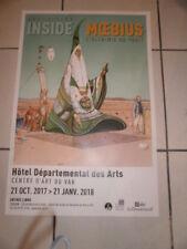 MOEBIUS Affiche Expo Inside Moebius, l'Alchimie du Trait. Hôtel des Arts TOULON