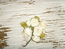 Pretty hat making millinary flowers cream color roses bouquet romantic chic